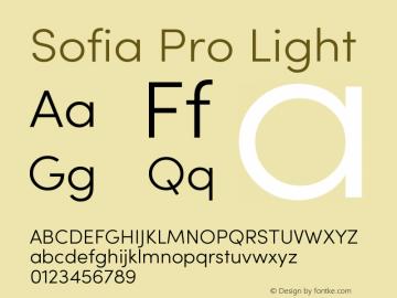 Sofia Pro Light Version 3.002;hotconv 1.0.109;makeotfexe 2.5.65596 Font Sample