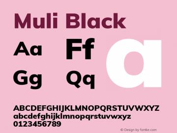Muli Black Version 2.000 Font Sample