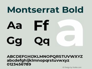 Montserrat Bold Version 7.200 Font Sample