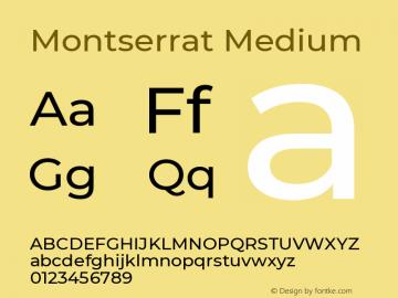Montserrat Medium Version 7.200 Font Sample