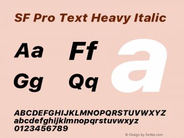 SF Pro Text Heavy Italic 13.0d1e33图片样张