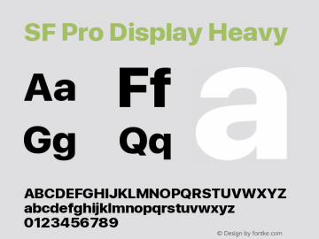 SF Pro Display Heavy Version 13.0d3e20图片样张