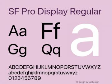 SF Pro Display Regular Version 16.0d18e1图片样张