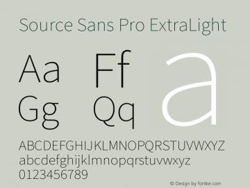 Source Sans Pro ExtraLight Version 1.036;PS 1.000;hotconv 1.0.70;makeotf.lib2.5.5900图片样张