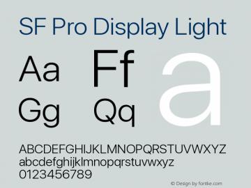 SF Pro Display Light Version 13.0d3e20图片样张