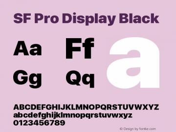 SF Pro Display Black Version 15.0d4e20图片样张