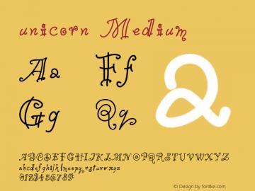 unicorn Version 001.000 Font Sample