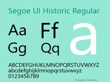 Segoe UI Historic Version 1.06图片样张