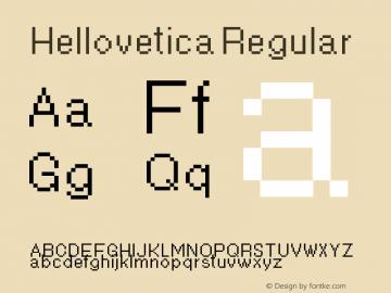 Hellovetica Regular Version 3.1图片样张