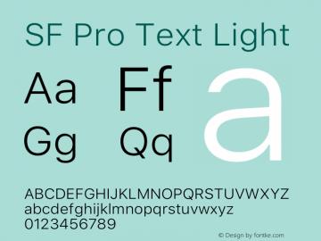 SFProText-Light Version 14.0d1e3图片样张