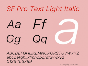 SFProText-LightItalic Version 14.0d1e3图片样张