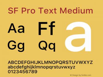 SFProText-Medium Version 14.0d1e3图片样张