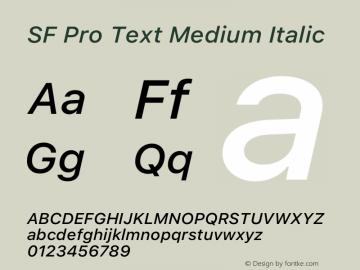 SFProText-MediumItalic Version 14.0d1e3图片样张