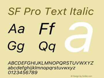 SFProText-Italic Version 14.0d1e3图片样张
