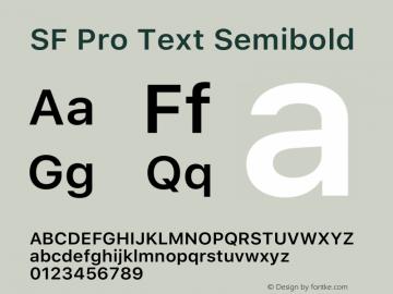 SFProText-Semibold Version 14.0d1e3图片样张