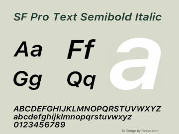 SFProText-SemiboldItalic Version 14.0d1e3图片样张