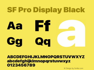 SFProDisplay-Black Version 14.0d2e0图片样张