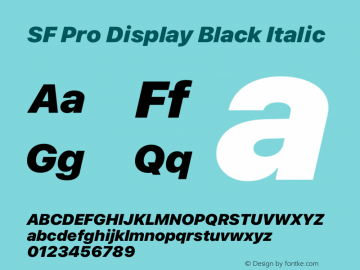 SFProDisplay-BlackItalic Version 14.0d2e0图片样张