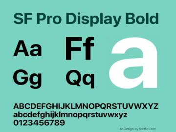 SFProDisplay-Bold Version 14.0d2e0图片样张