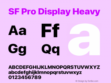 SFProDisplay-Heavy Version 14.0d2e0图片样张