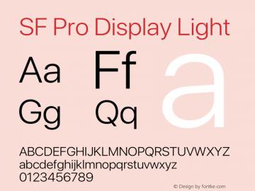 SFProDisplay-Light Version 14.0d2e0图片样张