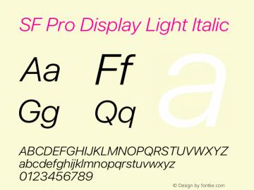 SFProDisplay-LightItalic Version 14.0d2e0图片样张