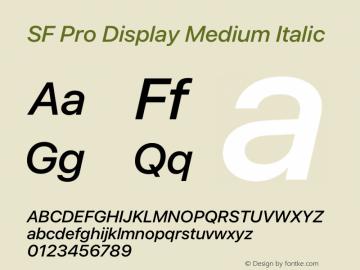 SFProDisplay-MediumItalic Version 14.0d2e0图片样张