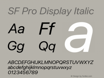 SFProDisplay-Italic Version 14.0d2e0图片样张