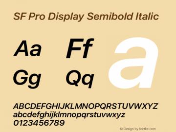 SFProDisplay-SemiboldItalic Version 14.0d2e0图片样张