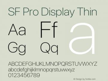 SFProDisplay-Thin Version 14.0d2e0图片样张