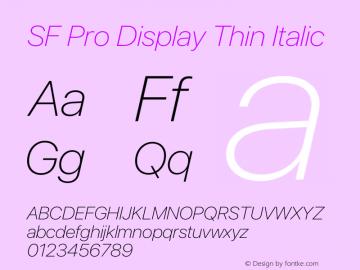 SFProDisplay-ThinItalic Version 14.0d2e0图片样张