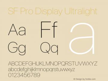 SFProDisplay-Ultralight Version 14.0d2e0图片样张
