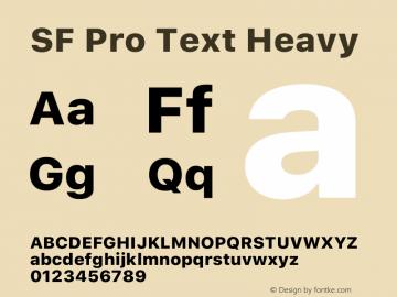 SFProText-Heavy Version 14.0d1e3图片样张