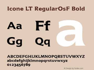 Icone LT RegularOsF Bold Version 1.0图片样张