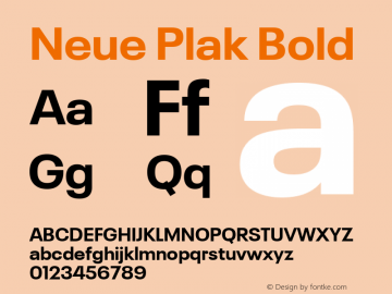 Neue Plak Bold 1.00, build 9, s3图片样张