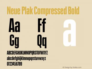 Neue Plak Compressed Bold 1.00, build 9, s3图片样张