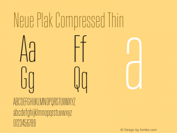 Neue Plak Compressed Thin 1.00, build 9, s3图片样张