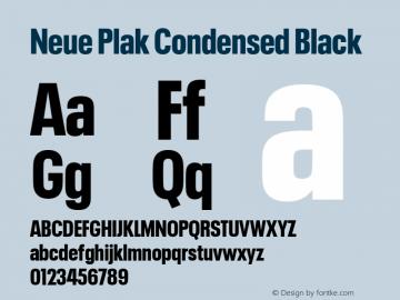 Neue Plak Condensed Black 1.00, build 9, s3图片样张