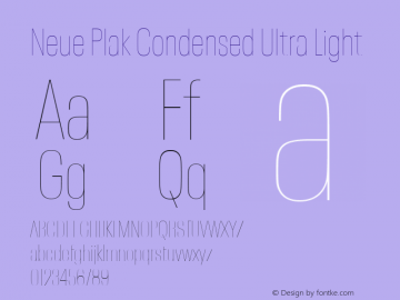 Neue Plak Condensed Ultra Light 1.00, build 9, s3图片样张