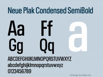 Neue Plak Condensed SemiBold 1.00, build 9, s3图片样张