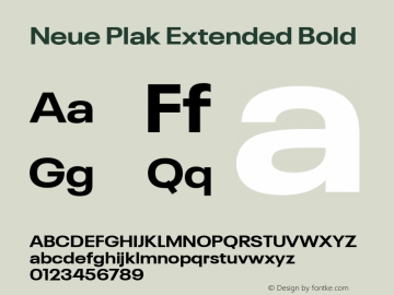 Neue Plak Extended Bold 1.00, build 9, s3图片样张