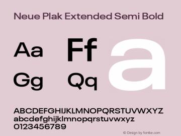Neue Plak Extended Semi Bold 1.00, build 9, s3图片样张
