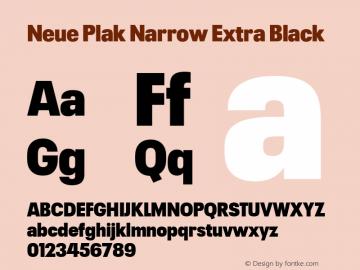 Neue Plak Narrow Extra Black 1.00, build 9, s3图片样张