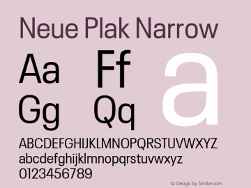 Neue Plak Narrow 1.00, build 9, s3图片样张