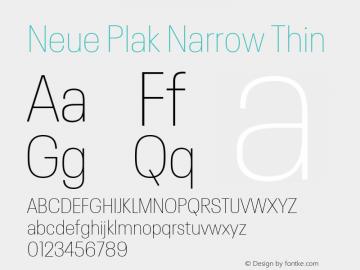 Neue Plak Narrow Thin 1.00, build 9, s3图片样张