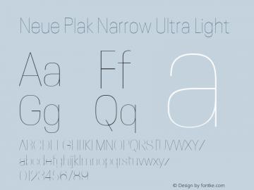 Neue Plak Narrow Ultra Light 1.00, build 9, s3图片样张