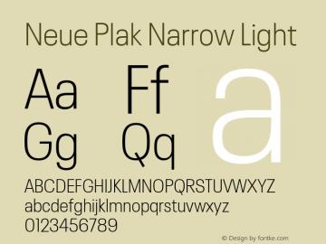 Neue Plak Narrow Light 1.00, build 9, s3图片样张