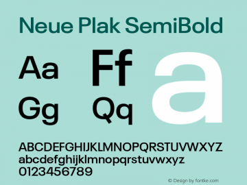 Neue Plak SemiBold 1.00, build 9, s3图片样张