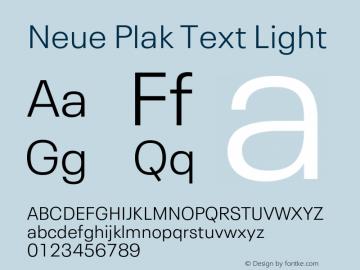 Neue Plak Text Light 1.10, build 13, s3图片样张