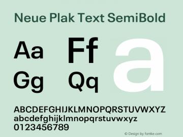 Neue Plak Text SemiBold 1.10, build 13, s3图片样张